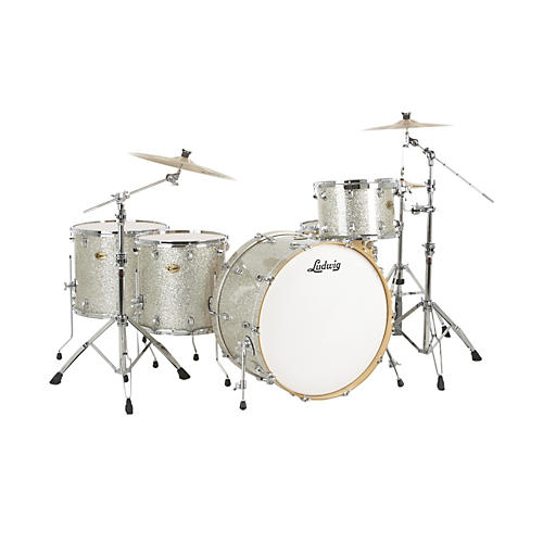 Ludwig Centennial Zep 4-Piece Shell Pack Silver Sparkle