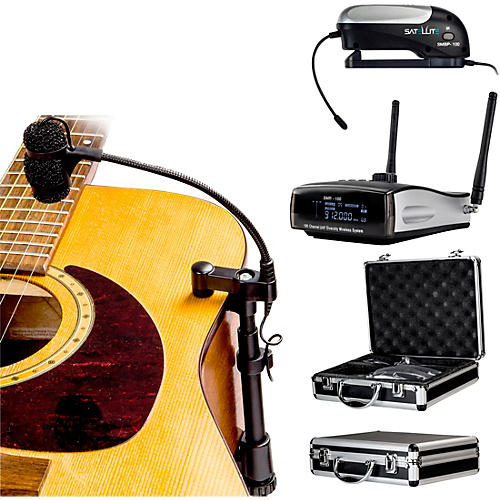 nady centerstage satellite 100 channel true diversity wireless instrument system for acoustic. Black Bedroom Furniture Sets. Home Design Ideas