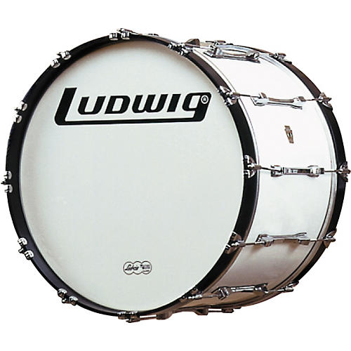 Ludwig Challenger Bass Drum White 24 Inch