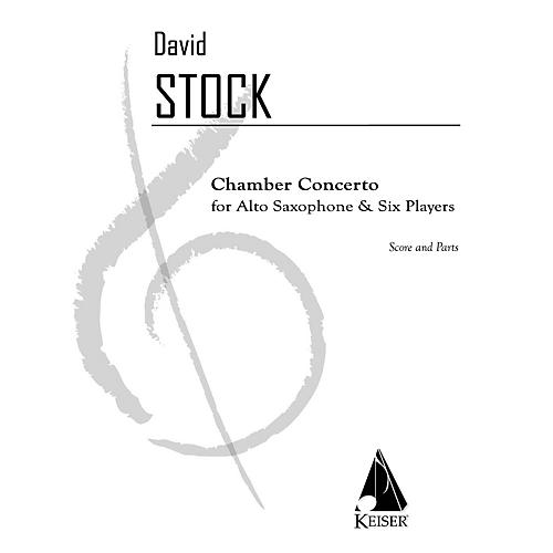 Lauren Keiser Music Publishing Chamber Concerto for Saxophone and Six Players - Score and Part LKM Music Series Composed by David Stock-thumbnail