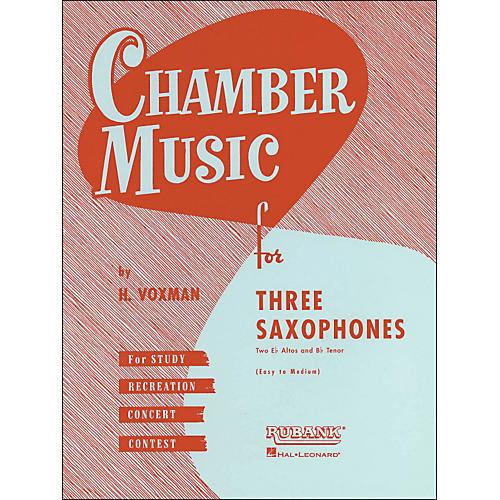 Hal Leonard Chamber Music Series Three Saxophones Two Altos And Tenor - Easy To Medium-thumbnail