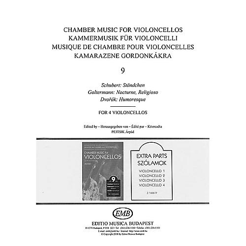 Editio Musica Budapest Chamber Music for Violoncellos - Vol. 9 (Parts) EMB Series Composed by Various-thumbnail