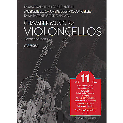 Editio Musica Budapest Chamber Music for Violoncellos, Vol. 11 (Three Violoncellos Score and Parts) EMB Series by Various-thumbnail