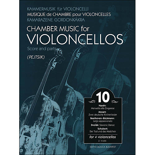 Editio Musica Budapest Chamber Music for Violoncellos Volume 10 Score And Parts (for 4 Cellos)-thumbnail