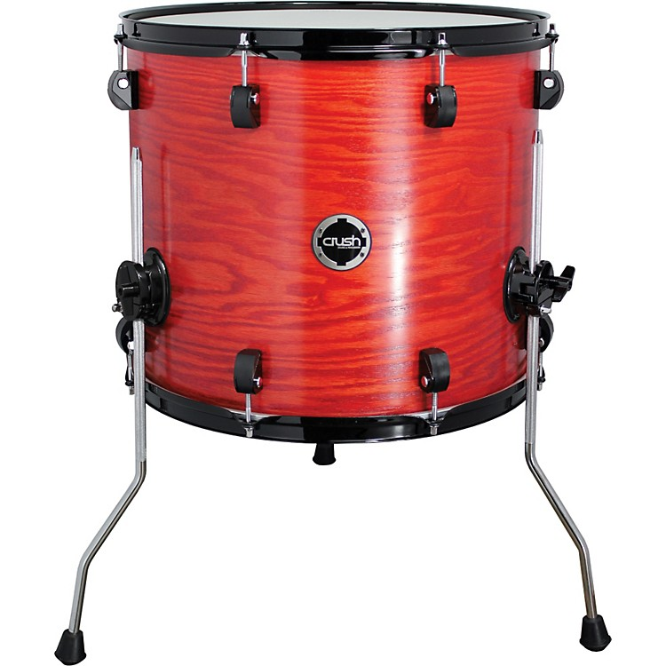 Crush Drums & Percussion Chameleon Ash Floor Tom Trans Satin Orange 18x16