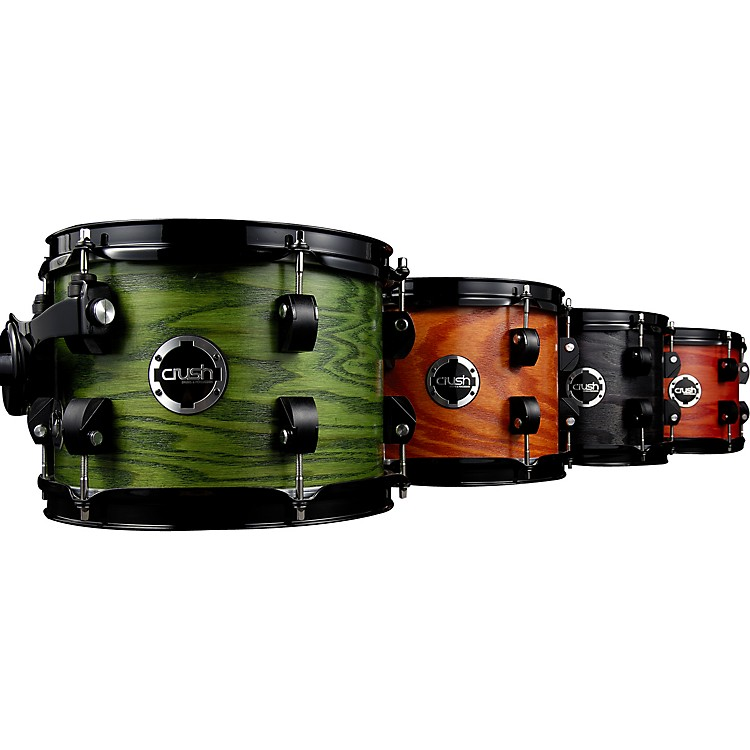 Crush Drums & PercussionChameleon Ash TomTrans Satin Forest Green8x6