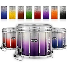 Pearl Championship CarbonCore Varsity FFX Marching Snare Drum Fade Bottom Finish 13 x 11 in. Orange Silver #979