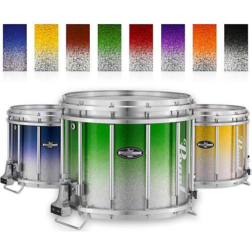 Pearl Championship CarbonCore Varsity FFX Marching Snare Drum Fade Top Finish 13 x 11 in. Orange Silver #980
