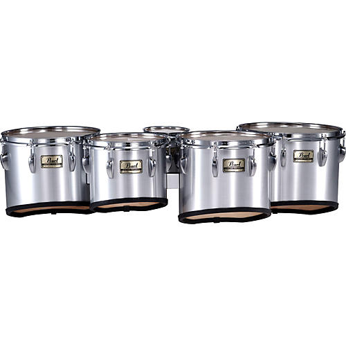 Pearl Championship Maple Marching Quint Tom Set 6, 8, 10, 12, 13 #26 Brushed Silver 6 X 8