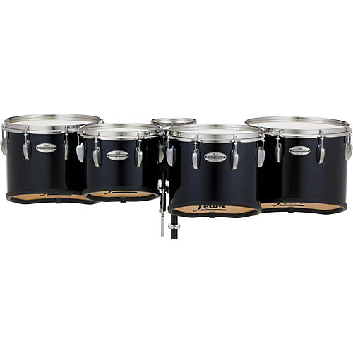 Pearl Championship Maple Marching Tenor Drums Quint Sonic Cut 6, 10, 12, 13, 14 in. Midnight Black #46