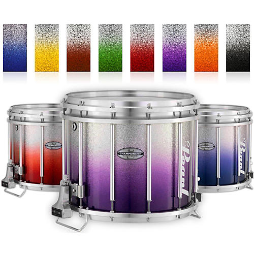 Pearl Championship Maple Varsity FFX Marching Snare Drum Fade Bottom Finish 14 x 12 in. Purple Silver #976-thumbnail