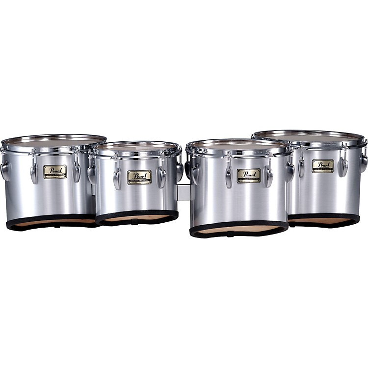 Pearl Championship Marching Tom Set with R Ring #46 Midnight Black 10,12,13,14 set