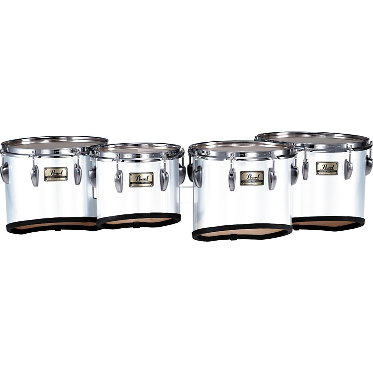 PearlChampionship Marching Tom Set with R Ring#46 Midnight Black10,12,13,14 set