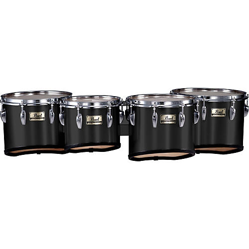 Pearl Championship Marching Tom Set with R Ring #46 Midnight Black 8, 10,12,13 set