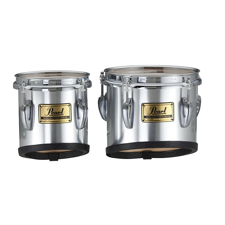 PearlChampionship Marching Tom with Attachment Bars#26 Brushed Silver6x6 & 8x8 set