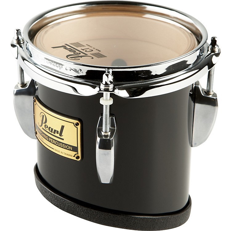 Pearl Championship Marching Tom with R Ring #46 Midnight Black 6x8