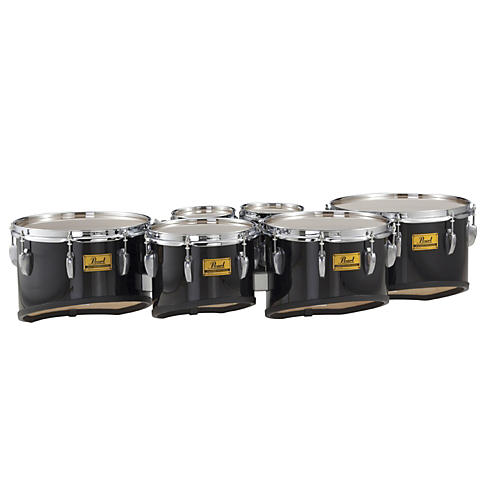 Pearl Championship Shallow Cut Marching Sextet Tom Set 6, 6, 10, 12, 13, 14 #33 Pure White 6 X 8
