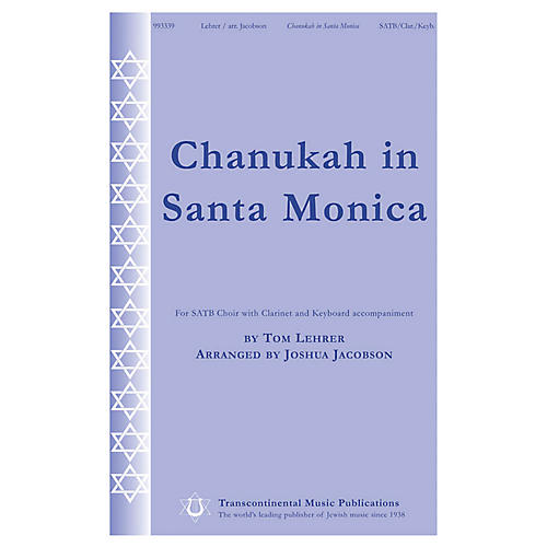 Transcontinental Music Chanukah in Santa Monica SATB arranged by Joshua Jacobson-thumbnail