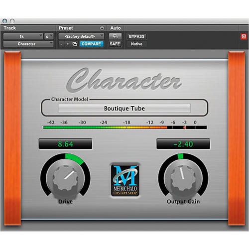 METRIC HALO Character for Pro Tools AAX Software Download