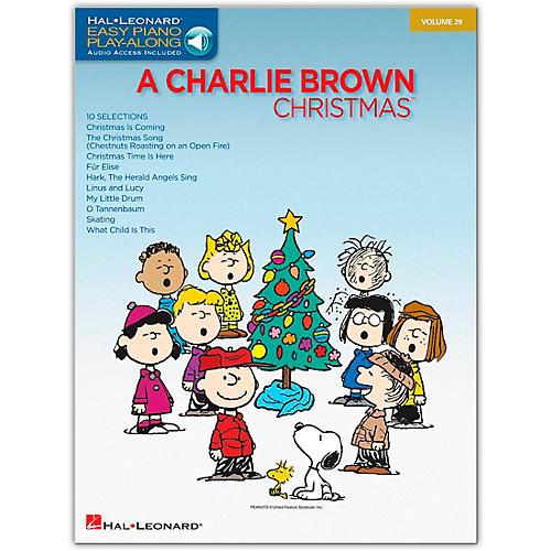 Hal Leonard Charlie Brown Christmas - Easy Piano Play-Along Volume 29 (Book/Online Audio)-thumbnail