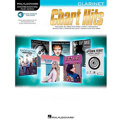 Hal Leonard Chart Hits For Clarinet - Instrumental Play-Along (Book/Online Audio)-thumbnail