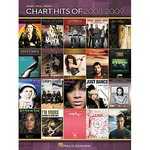 Hal Leonard Chart Hits Of 2008-2009 (Piano, Vocal, and Guitar Songbook)