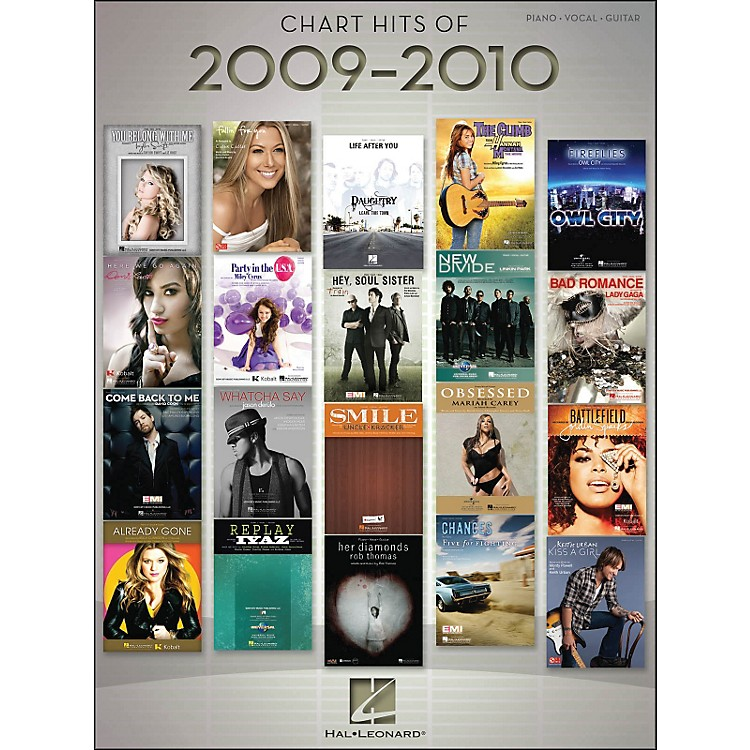 Hal LeonardChart Hits Of 2009-2010 arranged for piano, vocal, and guitar (P/V/G)