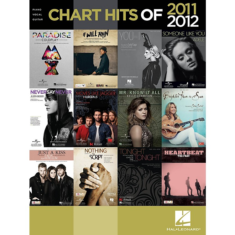 Hal LeonardChart Hits Of 2011-2012 Songbook for Piano/Vocal/Guitar