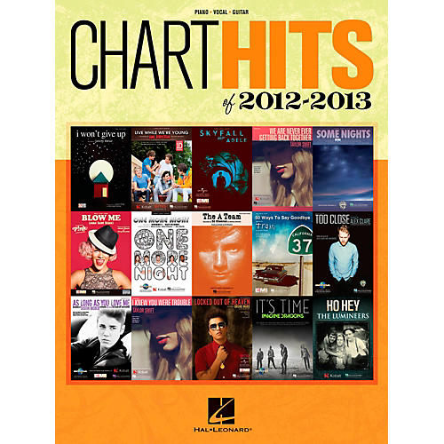 Hal Leonard Chart Hits of 2012-2013 Piano/Vocal/Guitar Songbook