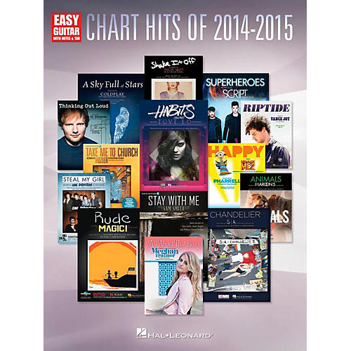 Hal Leonard Chart Hits of 2014-2015 Easy Guitar with Tab-thumbnail