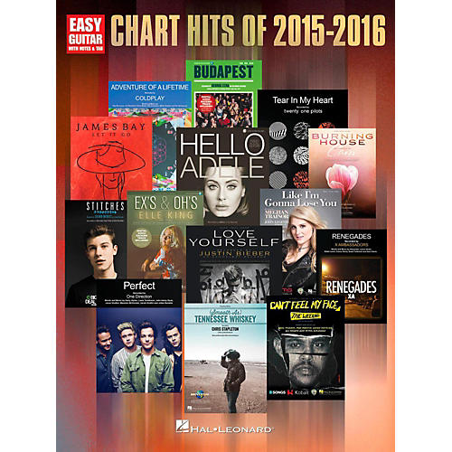 Hal Leonard Chart Hits of 2015-2016 (Easy Guitar with Tab)-thumbnail