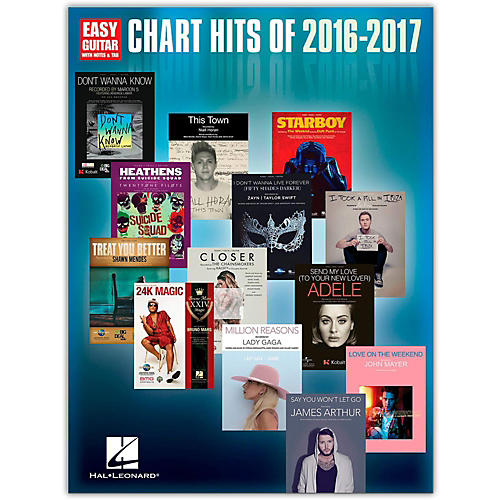 Hal Leonard Chart Hits of 2016 - 2017 (Easy Guitar with Tab)-thumbnail