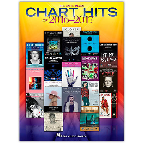 Hal Leonard Chart Hits of 2016-2017 - Big Note Songbook