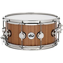 DW Cherry Mahogany Natural Lacquer with Nickel Hardware Snare Drum 14 x 6.5 in.