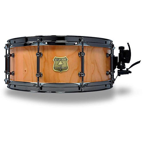 OUTLAW DRUMS Cherry Stave Snare Drum with Black Chrome Hardware 14 x 5.5 in. Natural