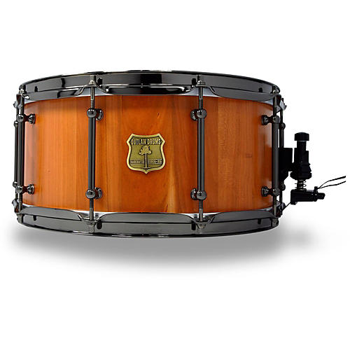 outlaw drums cherry stave snare drum with black chrome hardware 14 x 6 5 in natural musician. Black Bedroom Furniture Sets. Home Design Ideas