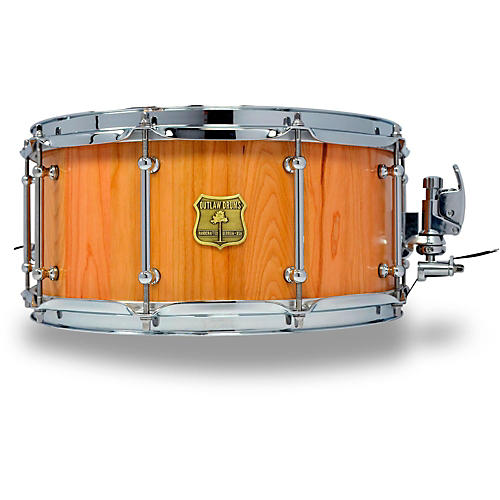 outlaw drums cherry stave snare drum with chrome hardware 14 x 6 5 in natural musician 39 s friend. Black Bedroom Furniture Sets. Home Design Ideas