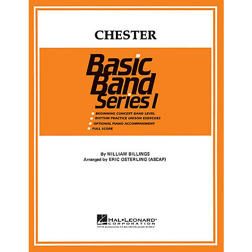 Hal Leonard Chester Concert Band Level 1 Arranged by Eric Osterling-thumbnail