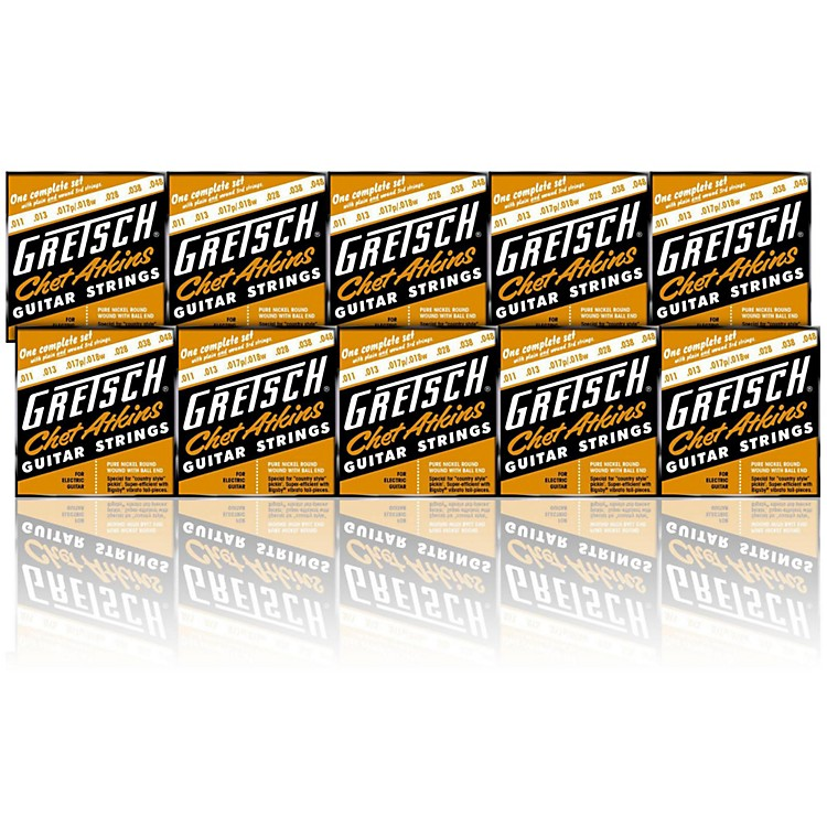 gretsch guitars chet atkins pure nickel 11 48 electric guitar strings 10 pack musician 39 s friend. Black Bedroom Furniture Sets. Home Design Ideas