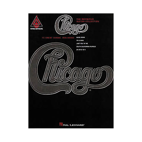 Hal Leonard Chicago - The Definitive Guitar Collection Book