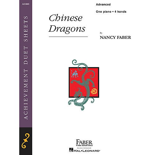 Faber Piano Adventures Chinese Dragons (Advanced Piano Duet) Faber Piano Adventures® Series Book by Nancy Faber-thumbnail