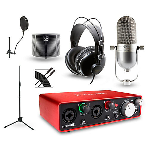 Focusrite Choose Your Mic Recording Package with Scarlett 2i2 and MH310 Headphones-thumbnail