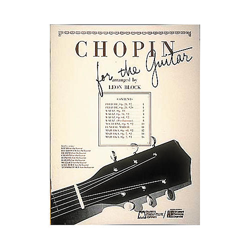Edward B. Marks Music Company Chopin for Guitar Book