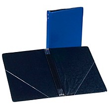 Marlo Plastics Choral Folder 7-3/4 x 11 With 7 Elastic Stays and 2 Clear, Flat, Diagonal Internal Pockets