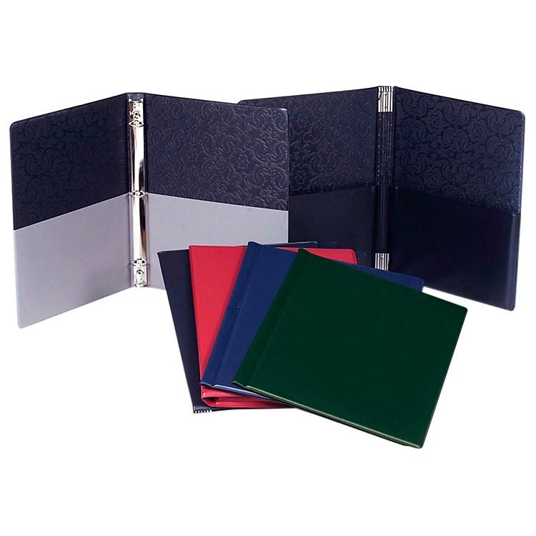 Marlo PlasticsChoral Folder 9-1/4 x 12 With 7 Elastic Stays and 2 Expanded Horizontal PocketsBlack