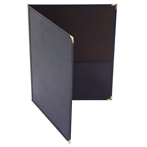 Deer River Choral Leatherette Folio With Bottom Pockets Blue 9x12