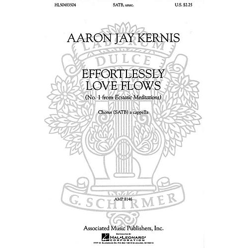 Associated Choral Movements from Ecstatic Meditations (No. 1 - Effortlessly Love Flows) SATB by Aaron Jay Kernis-thumbnail