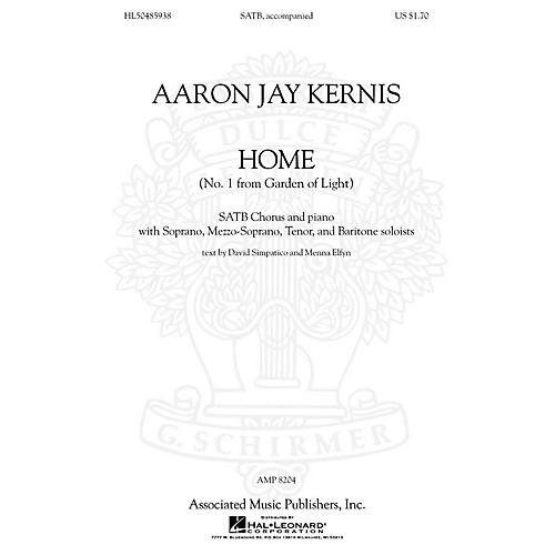 Associated Choral Movements from Garden of Light (No. 1 - Home) SATB composed by Aaron Jay Kernis