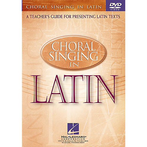 Hal Leonard Choral Singing in Latin (A Teacher's Guide for Presenting Latin Texts) DVD by Darwin Sanders-thumbnail