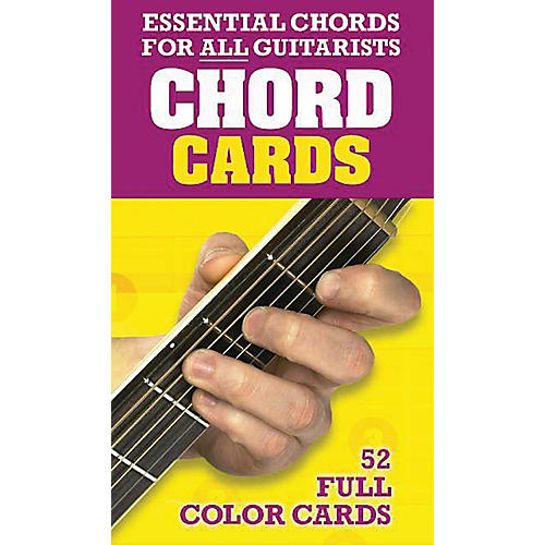 Music Sales Chord Cards - Essential Chords for All Guitarists 52 Full Color Cards-thumbnail